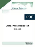 Practice Test Math Grade 3