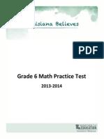 Practice Test Math Grade 6