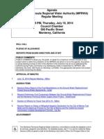 MPRWA Regular Meeting Agenda Packet 07-10-14