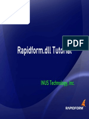 Rapidform Tutorial | Library (Computing) | 2 D Computer Graphics