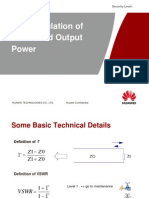 The Calculation of VSWR and Output Power
