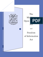 The Michigan Open Meetings Act and Freedom of Information