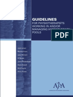 Guidelines Hydro Pools