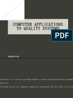 Sec 10 Computer Applications to Quality Systems