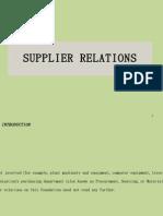 Sec 21  Supplier Relations