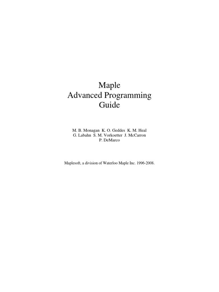 maple 12 advancedprogramming subroutine scope computer science rh scribd com
