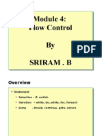 Module 4- Flow Control