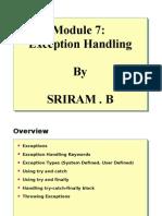 Module 7 - Exception Handling