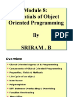 Module 8 - Essentials of Object Oriented Programming