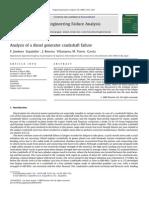 Engin Analysis of a Diesel Generator Crankshaft Failure