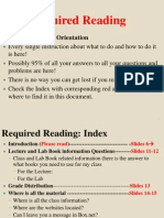 Required Reading Index Online & on-campus New -- Summer 2014