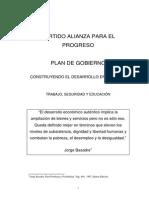 Plan de Gobierno Alianza Para El Progreso