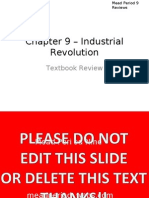 Chapter 9 – Industrial Revolution Review