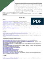 Sites Internet utiles français latin divers
