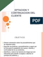 Aceptacion y Continuacion Del Cliente