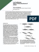 Polymer Volume 19 Issue 2 1978 [Doi 10.1016_0032-3861(78)90027-7] Francis J Kolpak; Mark Weih; John Blackwell -- Mercerization of Cellulose- 1. Determination of the Structure of Mercerized Cotton