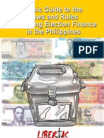 Basic Guide to the Laws and Rules Governing Election Finance in the Philppines