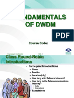 DWDM Fundamentals