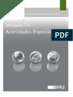 34 Specialised Activities ES