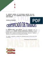 Certificado de trabajo de Electronica Master.docx