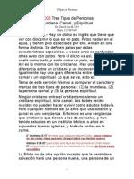 07-026 3 Tipos, Mundano, Carnal, Espiritual (s)