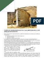 Tappe di costruzione di una casa bioclimatica con 20mq di sottotetto