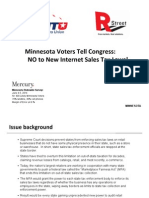 Minnesota Poll on online taxes from the National Taxpayers Union