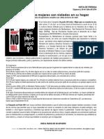 """Nota de Prensa. Campaña """"Un hombre no viola"""" en Cajamarca."""