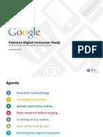 Google Digital Consumer Study - Pakistan