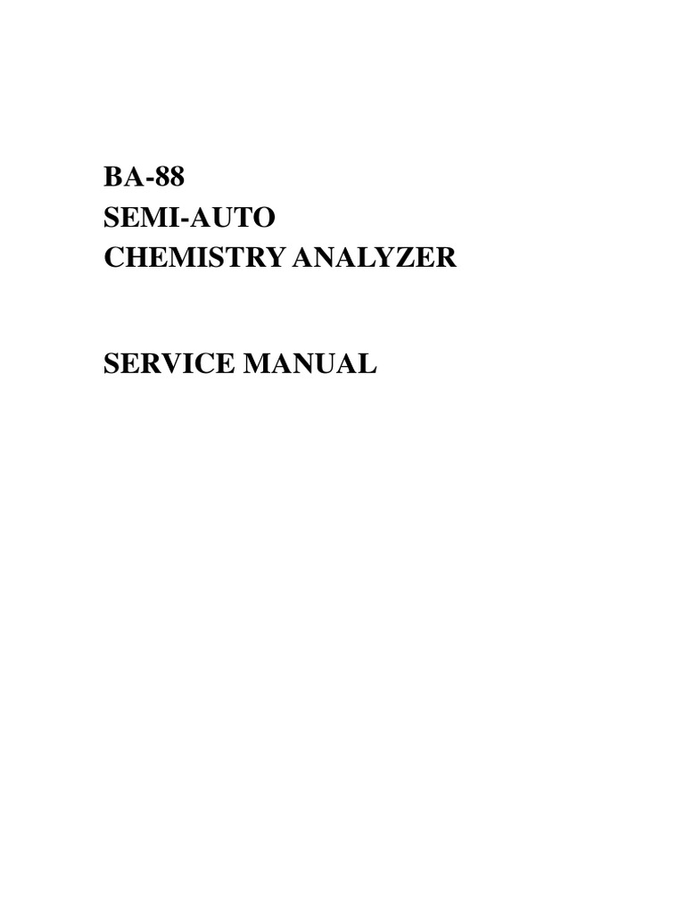 manual de servicio equipo ba 88 absorbance switch rh scribd com Organic Chemistry Reagents Chemical Reagents Used in Fixation