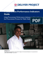 Using Procurement Performance Indicators to Strengthen the Procurement Process for Public Health Commodities