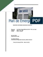 Plan de Emergencias Incasa (Revisión 2013)APROBADO