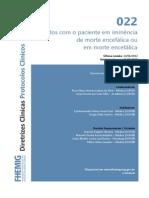 Cuidados Com o Paciente Em Iminencia de Morte Encefalica Ou Em Morte Encefalica2014