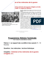Diapo Y Cadoret Les Memoires de La Guerre d Algerie