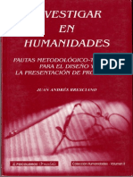 Investigar en Humanidades Pautas Para Proyectos