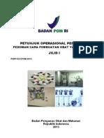 Petunjuk Operasional Pedoman CPOB 2013 jilid 1