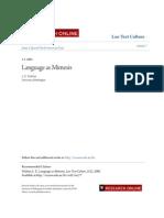 Language as Mimesis