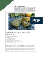 Torta de Zanahoria Rallada