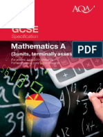 AQA 2014 Specification GCSE Maths