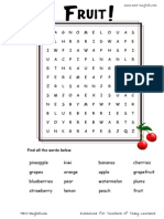 Fruit Wordsearch