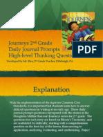 journeys unit 1 blooms journal prompts