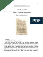 Evangellhos Apócrifos - Didache – O ensino dos doze Apóstolos.doc