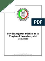 Ley Del Registro Público de La Propiedad Inmueble y Del Comercio