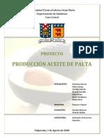 Ev de Proyectos Aceite de Palta