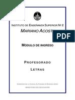 Cuadernillo Ingreso Letras JUL 11