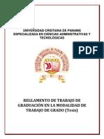 Reglamento de Trabajo de Graduacion (Tesis)