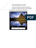 Escritorio de Windows y Los Iconos