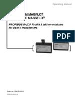 Magflo and Massflo Profibus module