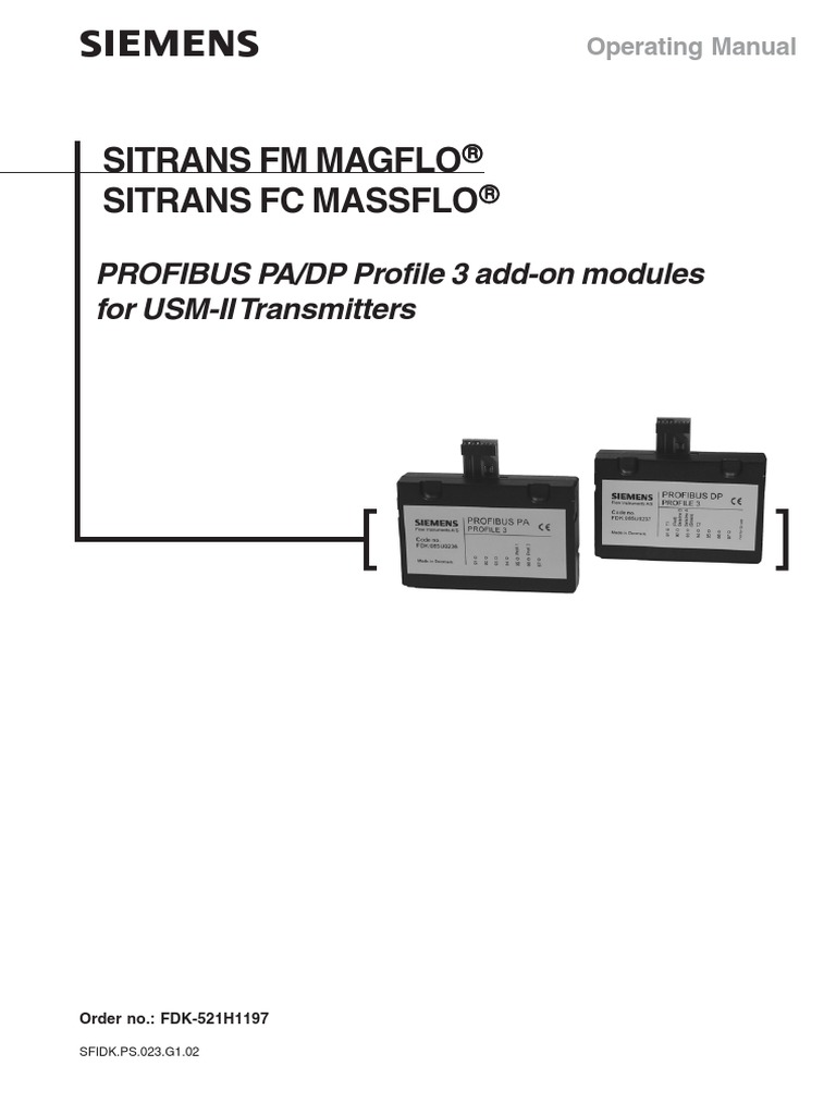 Magflo and Massflo Profibus module | Electrical Connector | C (Programming  Language)