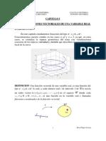 1 Curvas y Funciones Vectoriales de Una Variable Real
